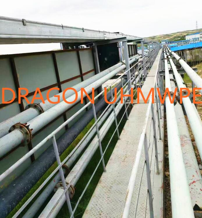 Wear resistant UHMWPE lined steel pipe
